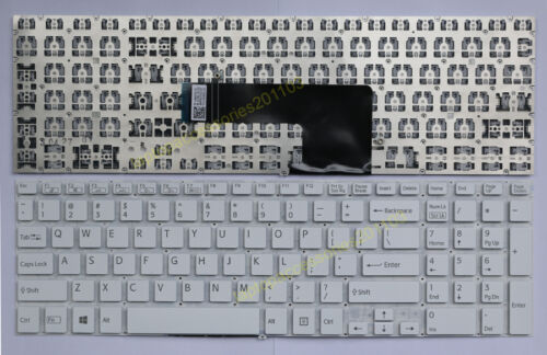 US Layout Keyboard For Sony Vaio SVF15 SVF15218SCW SVF15217SCW Series White