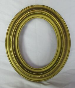 "ANTIQUE FIT 6.5"" X 8.5"" OVAL GOLD GILT WOOD FRAME FINE ART COUNTRY VICTORIAN"