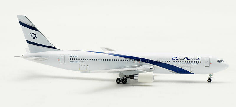 1 400 Witty ISRAEL AIRLINES AIRLINES AIRLINES BOEING 767-300ER Passenger Airplane Diecast Model 4566ab