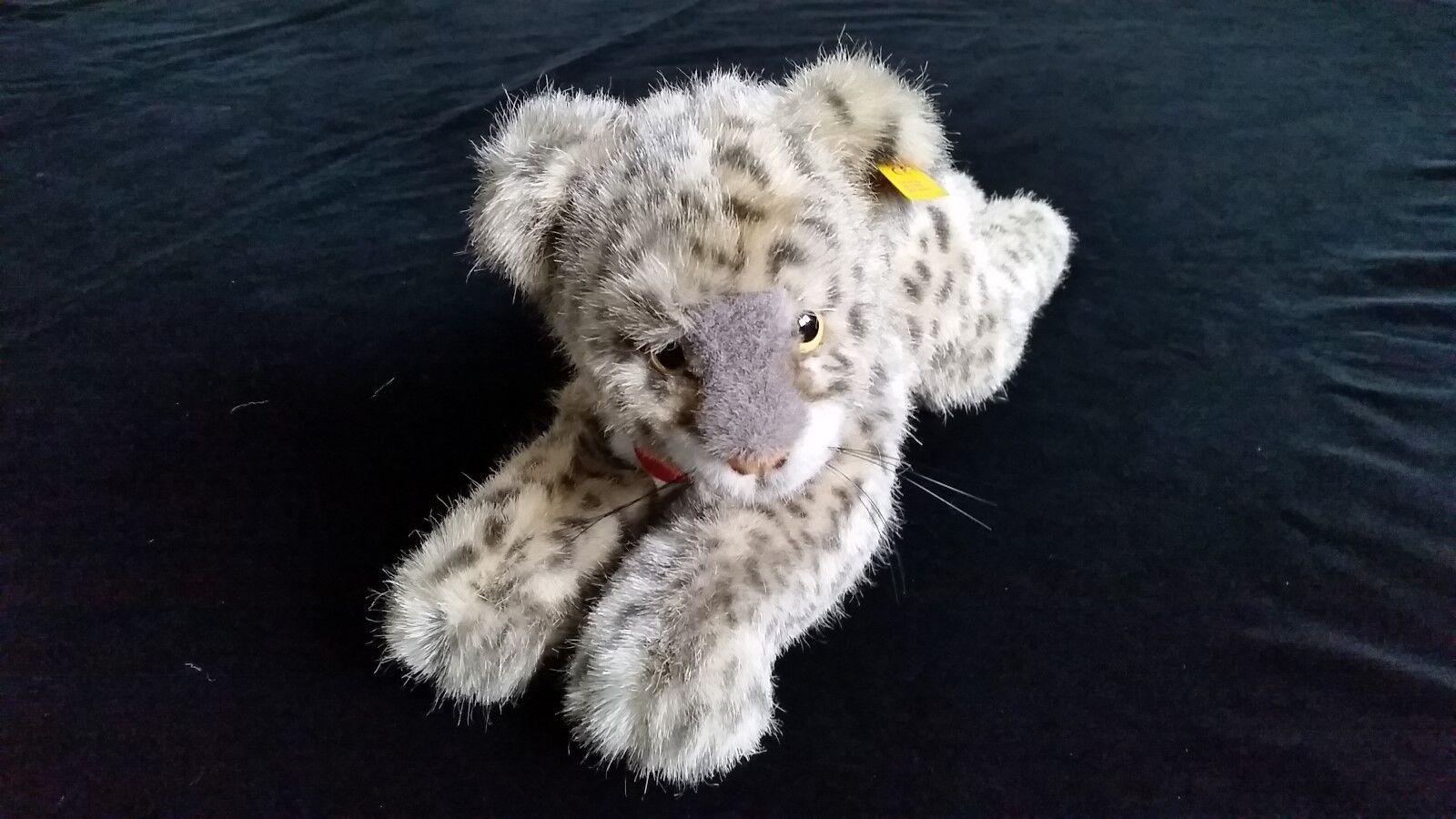 Steiff Snobby Baby Schneeleopard 065804 Größe ca. 40 cm ladenfrisch aus Vitrine