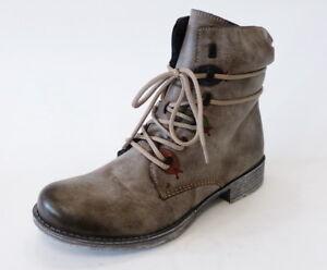 Rieker-Boot-70827-26-cigar-grau-warm-Reissverschluss-Stiefel-Stiefelette-Schnuer
