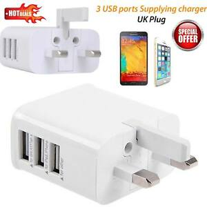 UK-Mains-Wall-3-Pin-Plug-Adaptor-Charger-with-3-USB-Ports-for-Phones-Tablets-CE