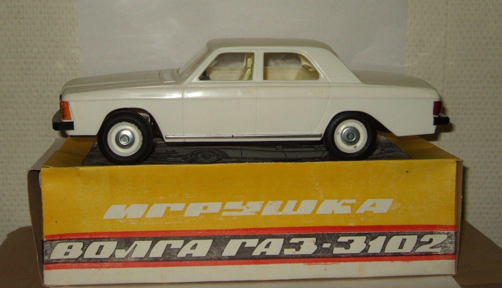 Soviet toy model model model russian limousine Gaz 3102 Wolga Volga bianca USSR 1:18 4b2861