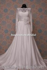 1597-White-Ivory-wedding-dress-Classic-floor-length-119-rosa-long-sleeves-boat