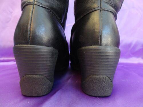 rodilla de damas Eur cremallera ¡Elegante £ cuero negro con 6 para 95 Uk Clarks Rrp altas Botas hasta la 39 w400Y7Zq