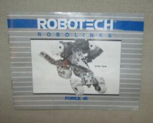 VINTAGE-1985-TAKARA-ROBOTECH-ROBOLINKS-DRILLER-TANK-FORCE-41-INSTRUCTION-MANUAL