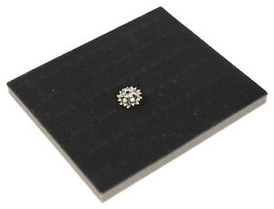 Jewellers Large Grey Velvet Ring Roll Display Pad for 60-80 Rings Cufflinks