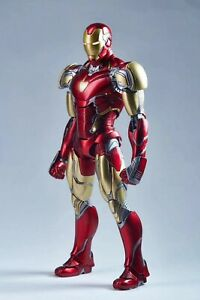 Comicave 1//12 Iron Man MK43 Figure Model Original Alloy Movable Action Collect