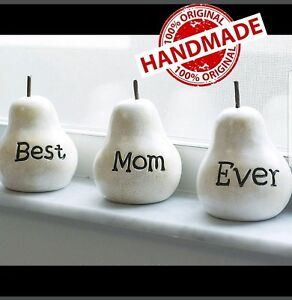 Image Is Loading Handmade Unique Prime Clay Pears Best Mom Ever