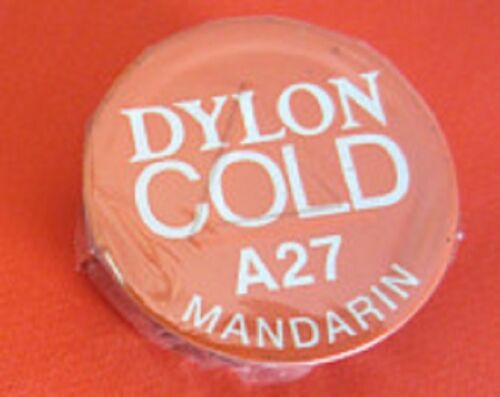 COLD-WATER-DYE-DYLON-EASY-TO-USE-IDEAL-FOR-CRAFTWORK-A27-Mandarin