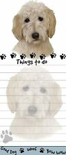 Goldendoodle Die Cut List Padnote Pad With Magnetic Back