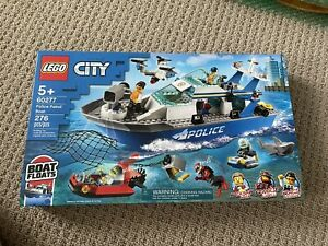 LEGO City Police Patrol Boat 60277 Building Kit (276 Pieces) New Sealed Box