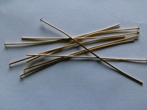 Ideal for tying. Headpins 50mm Gold plated thin soft   X 500 top quality