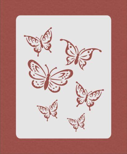 Butterfly Butterflies Stencil Airbrush Crafting Card Making Art Work Wall Art R2