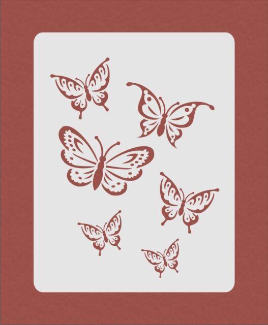 Butterfly Butterflies Stencil Airbrush Crafting Card Making Art Work ...