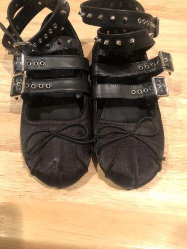 dolls kill shoes Sugar Thrillz Ballet Flats Size 8