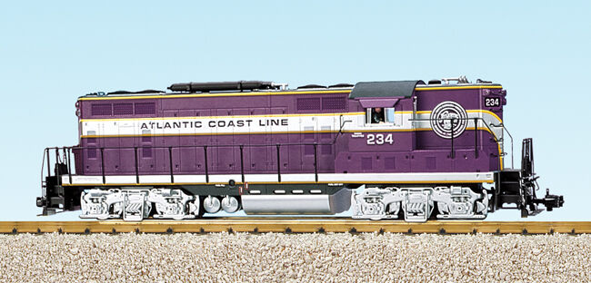 USA Trains G Scale GP7-9 Diesel Locomotive R22103 Atlantic Coast Line viola/sil
