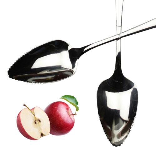 Fruit Grapefruit Seratted Spoon Long Handle Mirror Polishing Stainless Steel