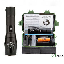 G700 10000LM X800 XML T6 LED Zoom Militray Tactical Flashlight Torch Set w/Case