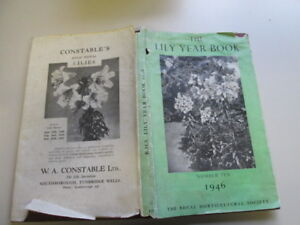 Acceptable-THE-LILY-YEAR-BOOK-1946-NUMBER-TEN-The-Royal-Horticultural-Soci