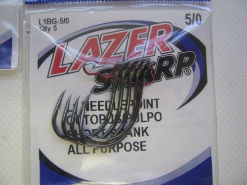 Eagle Claw Lazer Sharp Fishing Hooks Octopus Hooks /& Siwash Anzuelo Open Eye