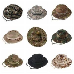 Image is loading Tactical-Ripstop-Combat-Caps-Wide-Brim-Bucket-Hat- 21c0d5a559ac