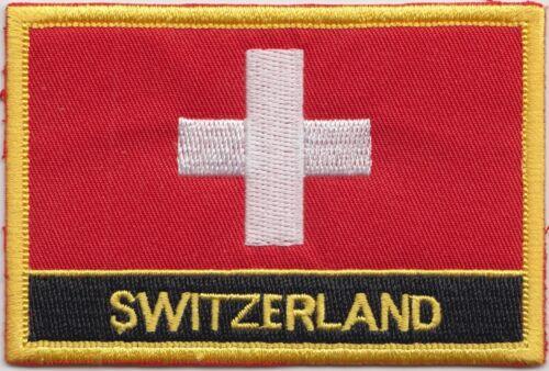 Schweiz Flagge Aufgestickt Patch Abzeichen - Nähen oder Zum Aufbügeln