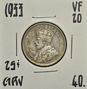 1933-Canada-25-cents-VF-20