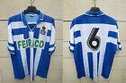 VINTAGE Maillot DEPORTIVO LA CORUNA COROGNE n°6 camiseta jersey shirt football L