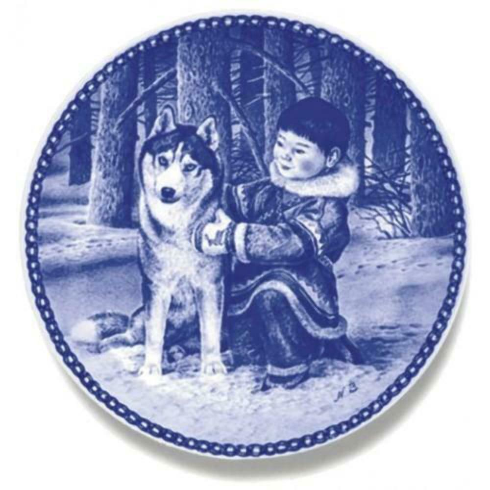 The Best of Friends-Siberian Husky - Limited Edition Dog Plate made in Denmark