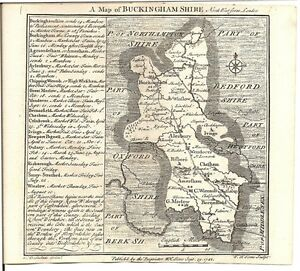 Antique-map-Buckinghamshire