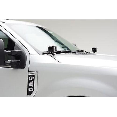ZROADZ Z365471 Hood Hinge LED Bracket Mounts for 2017 Ford F250//F350 By A Pillar