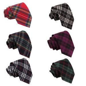 DQT Mens Tie /& Hanky Set Woven Tartan Plaid Formal Necktie FREE Pocket Square