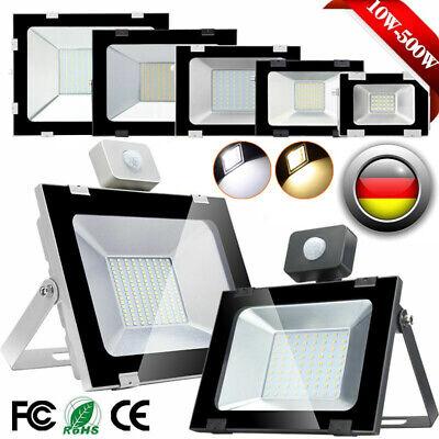 LED Fluter mit Bewegungsmelder 10W 20W 50W 100W 300W Außen Strahler Scheinwerfer