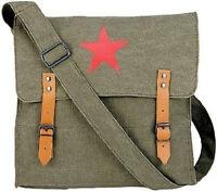 SALE! Vintage Style Green Military Red Star Shoulder Bag Messenger Pack Army