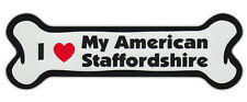Dog Bone Shaped Car Magnets: I Love My American Staffordshire