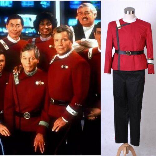 Star Trek II-VI Wrath of Khan Starfleet Cosplay Costume Adult Halloween Costume@
