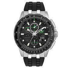 Citizen Skyhawk A-T Chronograph Perpetual Black Silicone Men's Watch JY8051-08E