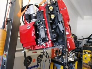 Details about Johnson 140hp Suzuki DF 140 outboard Power head complete  engine Re Power