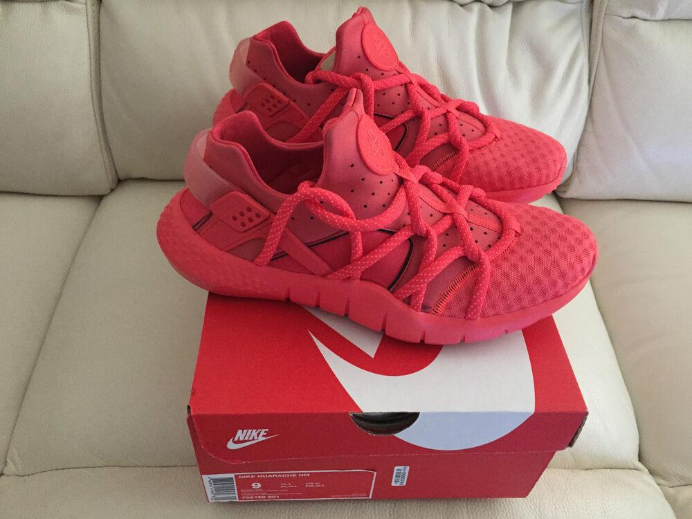 NIKE AIR HUARACHE Presque comme neuf Rouge Royaume-Uni Toutes Tailles  Chaussures de sport pour hommes et femmes