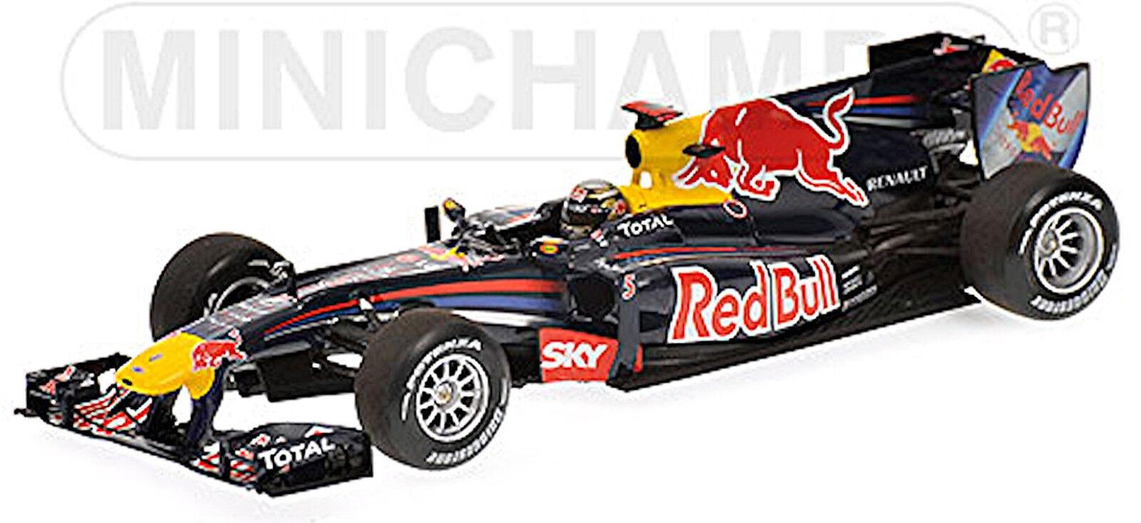 rouge Bull Renault de Course RB6 Vettel  1 Gangant Brazilian Gp 1 43 Minichamps