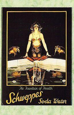 Poster Schweppes Soda Water Vintage Advertising Art Print