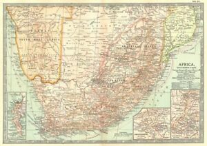 Map Of South Africa And Namibia.Details About South Africa Botswana Namibia Cape Town Johannesburg Ladysmith 1903 Map