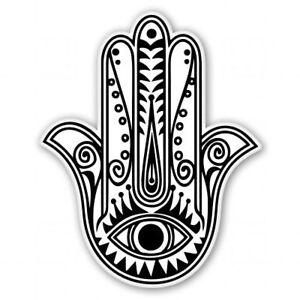 hamsa hand black white car vinyl sticker select size ebay