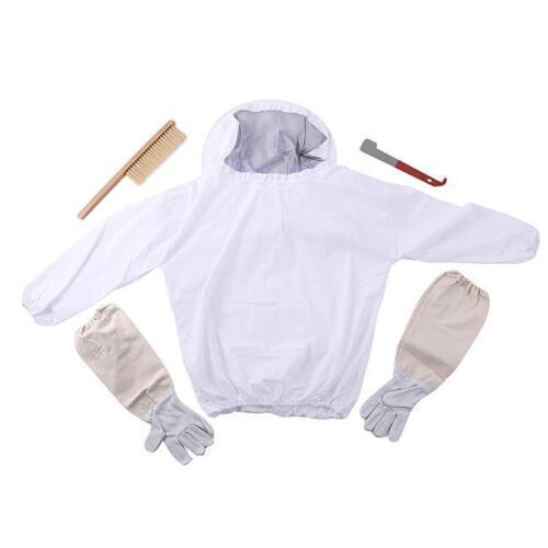Beekeeping Bee Keeping Suit Jacket /& Gloves /& Beehive Brush /& J Hook Hive Tool