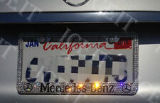 Bling License Frame Stainless Steel Madewith Swarovski Crystal For Mercedes Benz