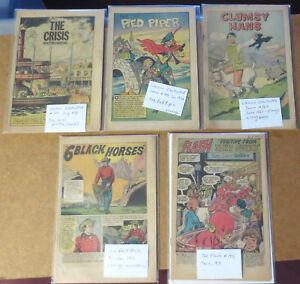 Silver-Age-Comic-Books-Lot-COVERLESS-Classics-Illustrated-FLASH-Six-Black-Horses