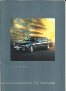Lexus gs 300 sport sales brochure 1995 1996
