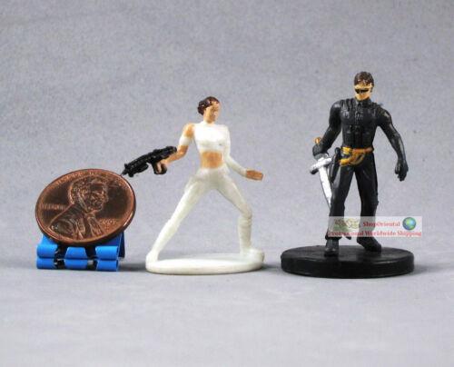 "Hasbro Star Wars 1/"" Bonecos Rainha Padme Amidala /& genoharadan Assassin Knight S98"