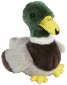 RAVENSDEN SOFT TOY MALLARD DUCK 18CM - FRS009MD BIRD CUTE POND BROWN GREY CUDDLY